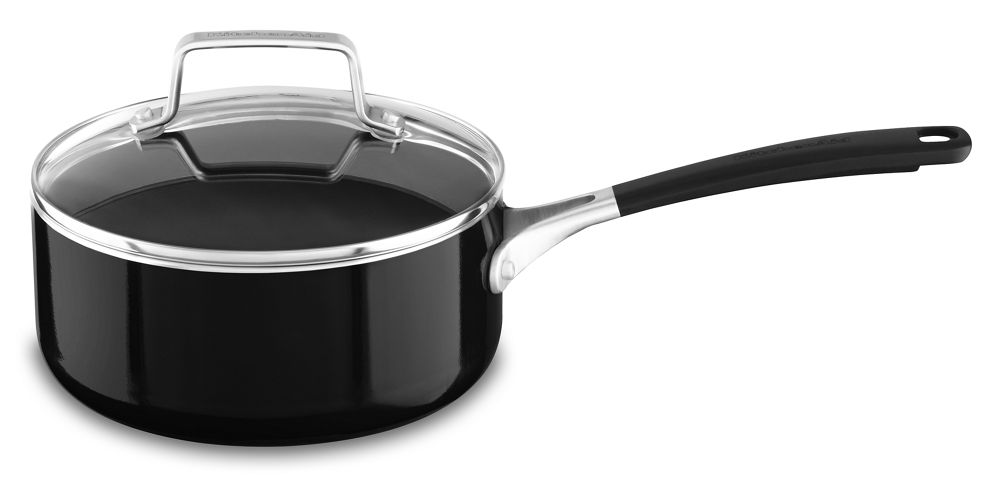 Aluminum Nonstick 2.0-Quart Saucepan with Lid