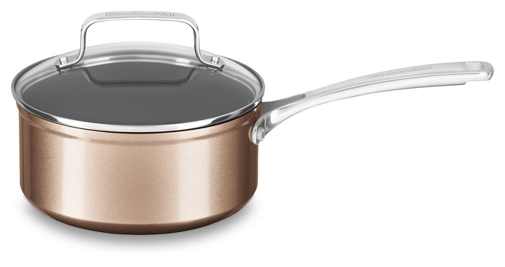 2 Quart Hard Anodized Non-Stick Saucepan with lid
