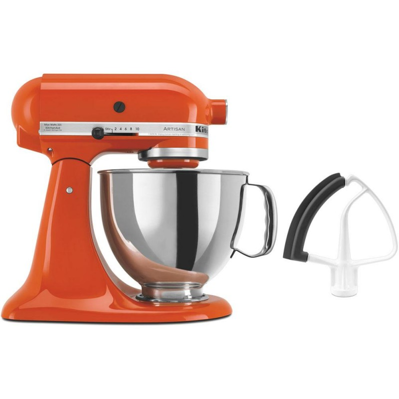 KitchenAid Artisan Series 325-Watt Tilt-Back HeadPersimmon Stand Mixer and Flex Edge Beater
